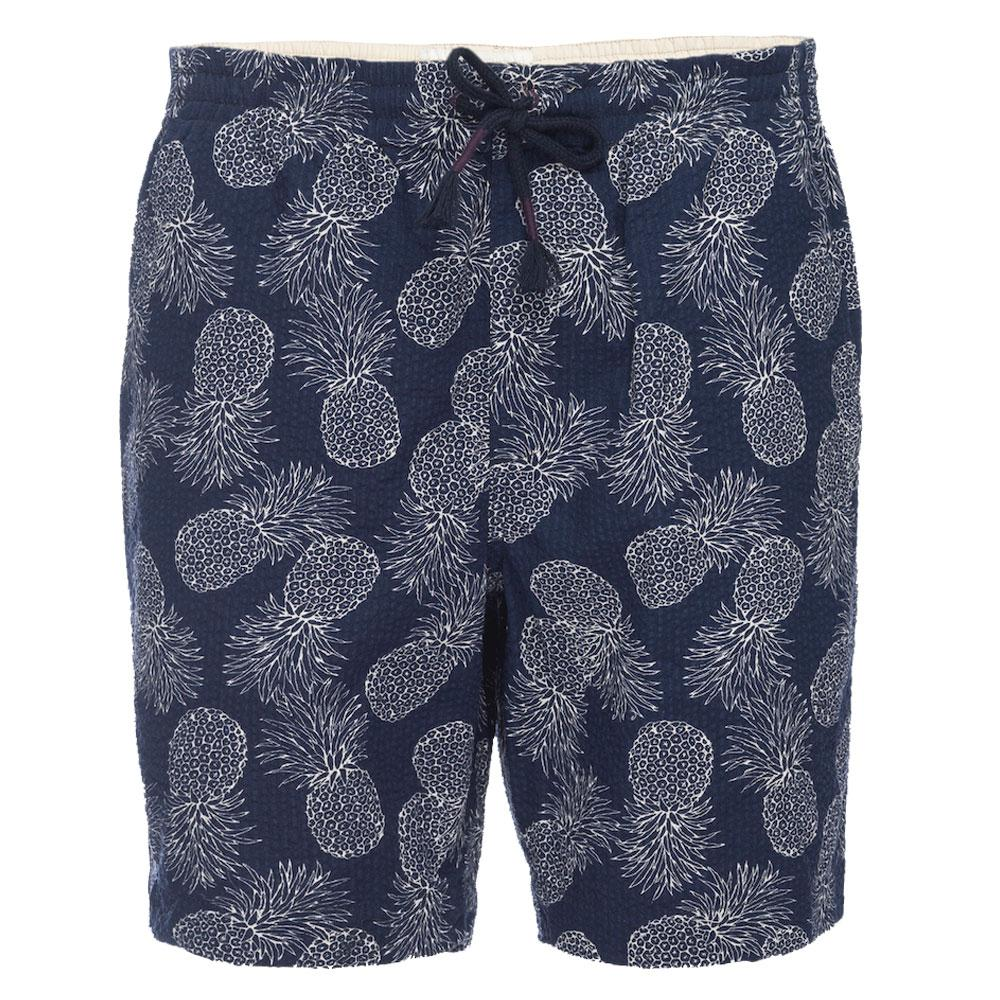 Kennedy Pull On Short in Seersucker Pineapple Print