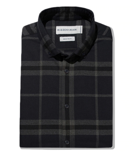 Proctor Flannel Navy Trim Fit