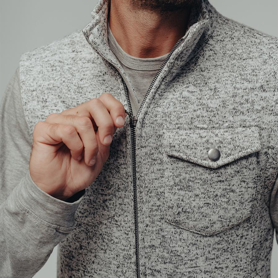 Lincoln Fleece Vest-Grey