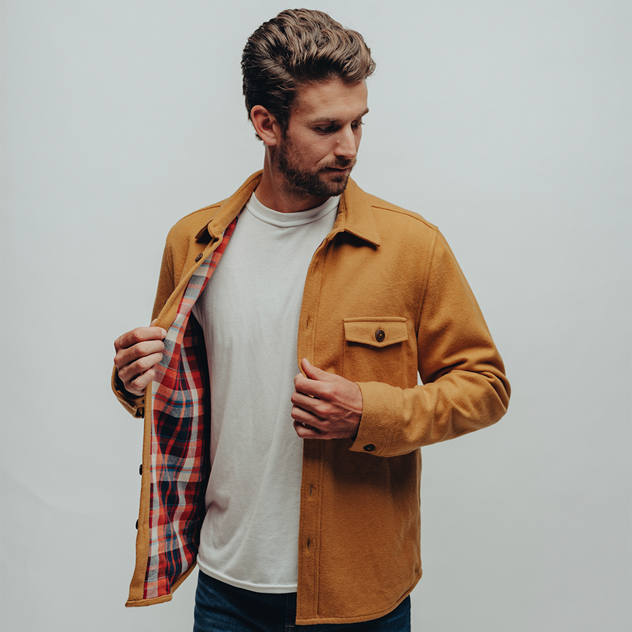 Brightside Flannel Lined Jacket-Gold