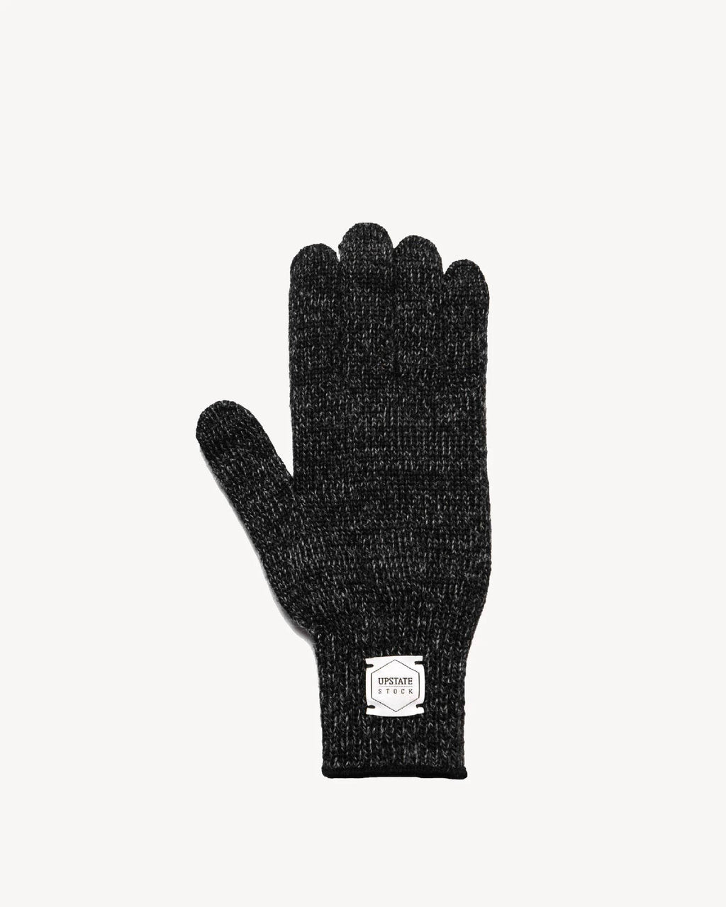 Black Melange Ragg Wool Gloves
