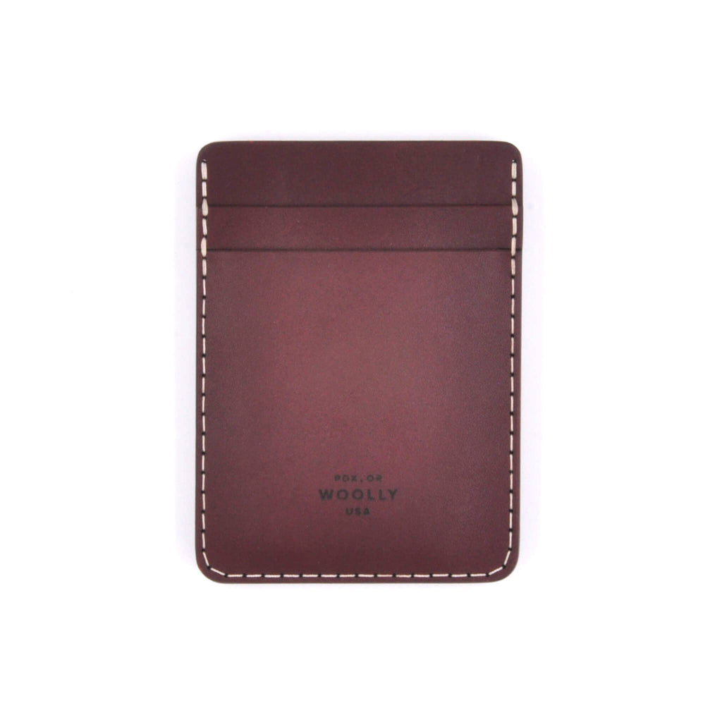 Money Clip Wallet: Burgandy