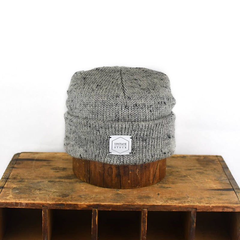 Grey Tweed Ragg Wool Beanie