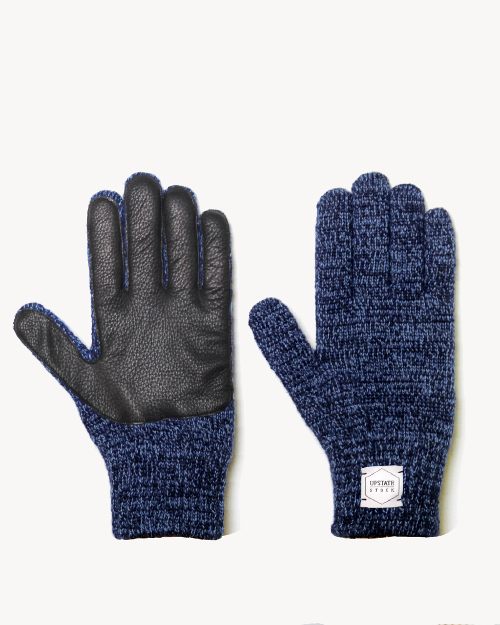 Denim Melange Ragg Wool Gloves