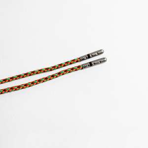 Orange, Green & Black Braided Shoelaces