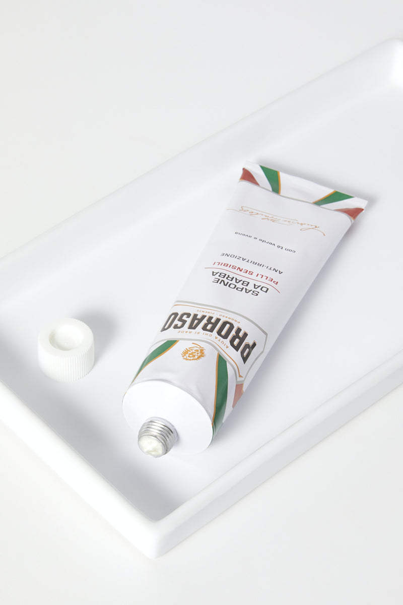 SHAVING CREAM TUBE: SENSITIVE