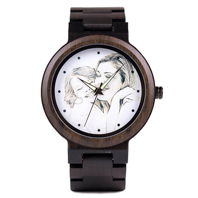 montre bois personnalisable photo