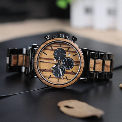 montre bois bambou homme luxe