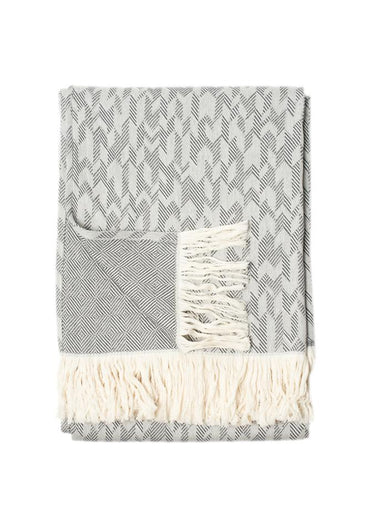 Cotton Throw Charcoal Grey