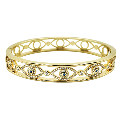 CZ Evil Eyes Bangle