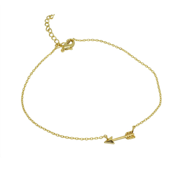 Plain Arrow Anklet Bracelet