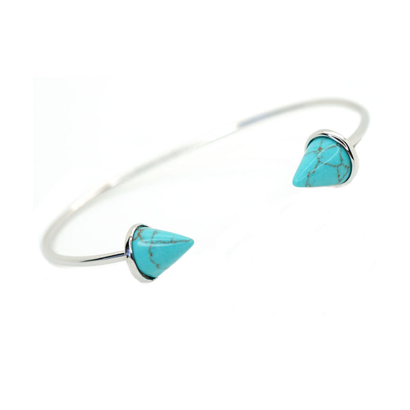Double Spike Turquoise Cuff