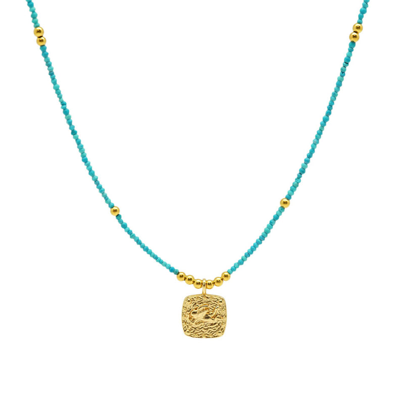 Square Small Angel Turquoise