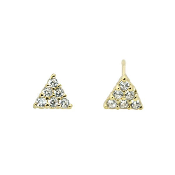 CZ Small Stud Triangles