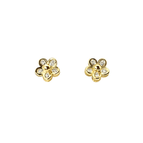 Small CZ Flower Studs