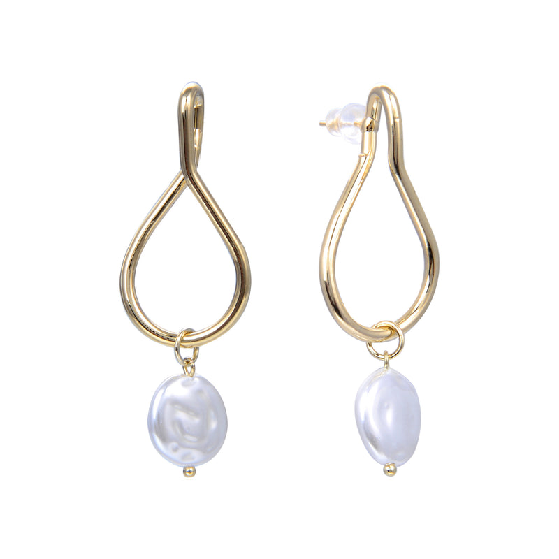 Dangling Hoop Pearls