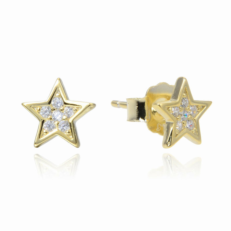 Small Stud STAR with CZ