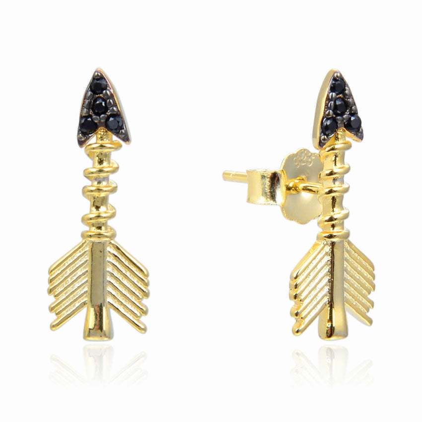 Arrow CZ Stud Earrings