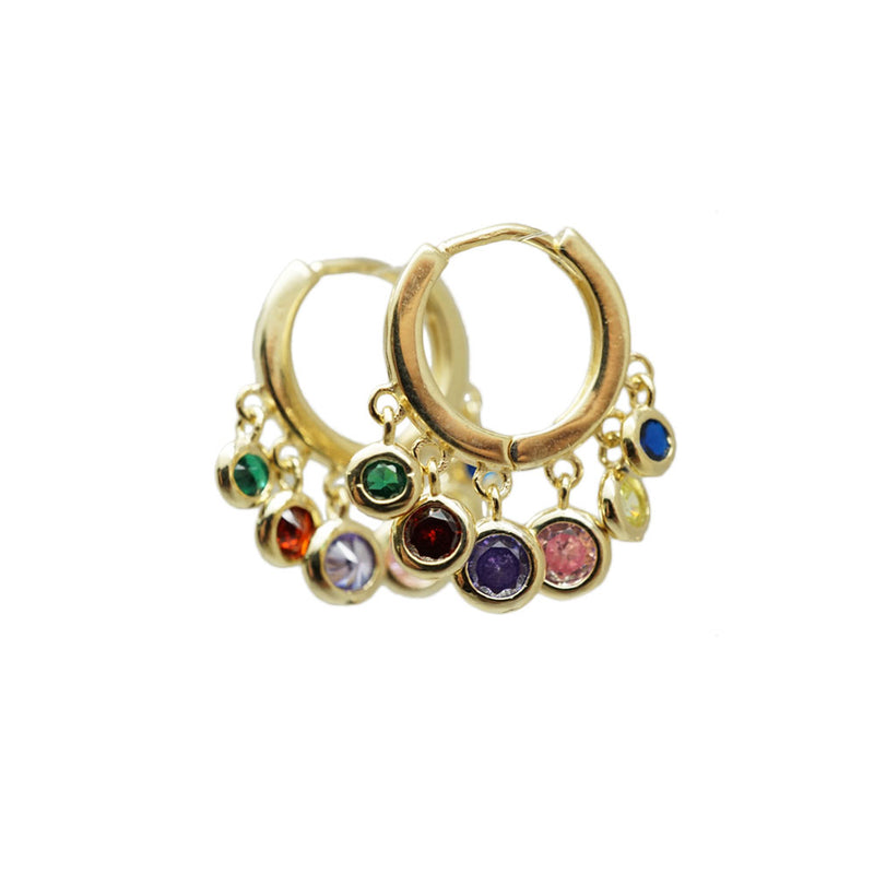 CZ Dots Small Hoops