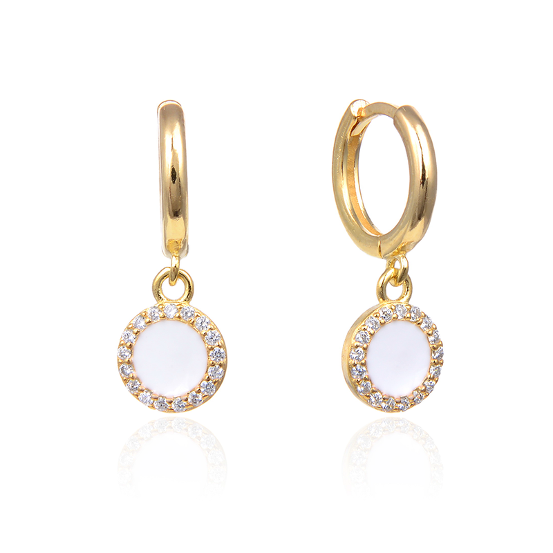 Hoop Circle CZ Dangle