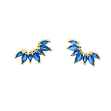 Load image into Gallery viewer, Crown Baguette CZ Studs