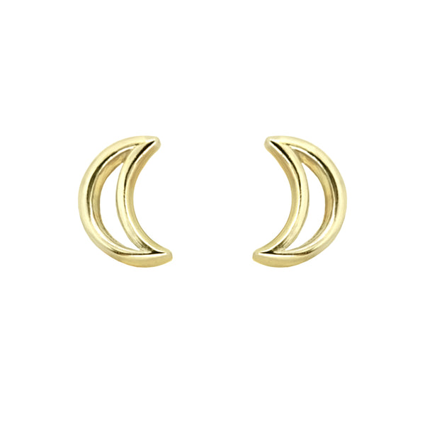 Outline Half Moon Studs
