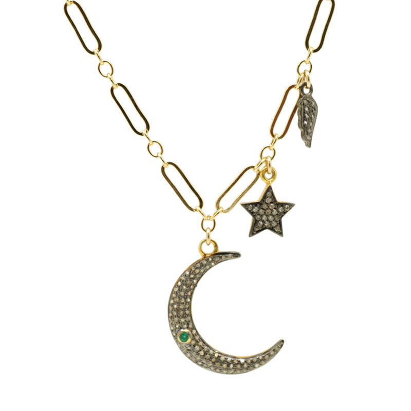 Half Moon with Charms