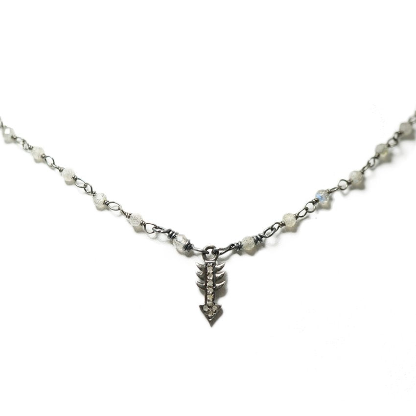 Diamond Tiny Arrow Necklace