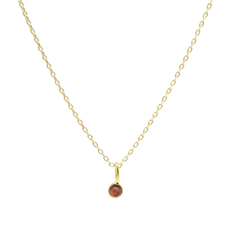 Tiny Dot Stone Necklace