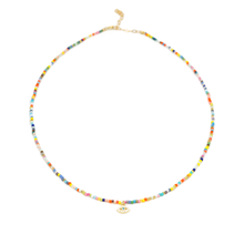 Load image into Gallery viewer, CZ Evil Eye Multicolored Choker