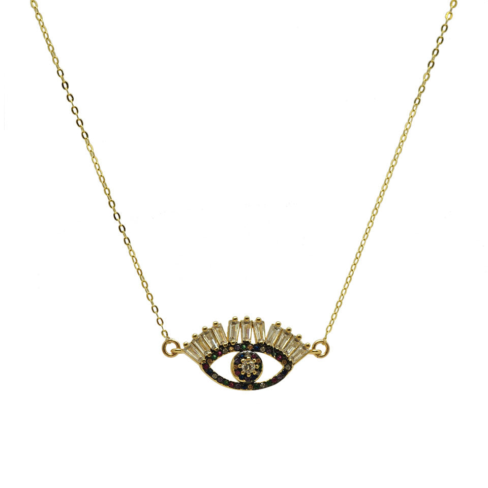 CZ Eyelashes Evil Eye