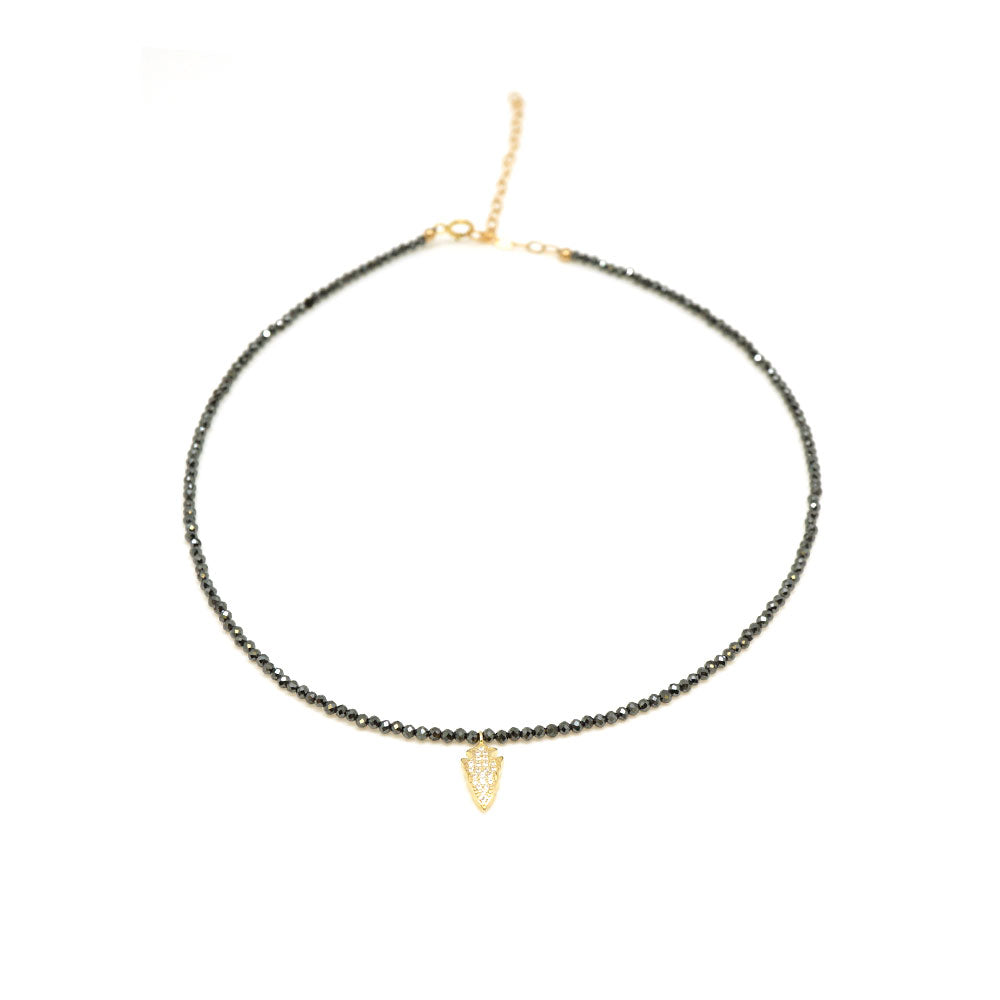 Black Spinel CZ Arrow Choker
