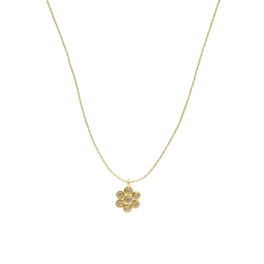 CZ Flower Gold String
