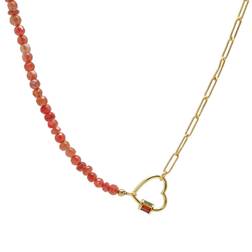 Red Chalcedony Necklace