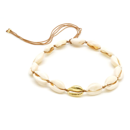 Gold Sea Shell Choker