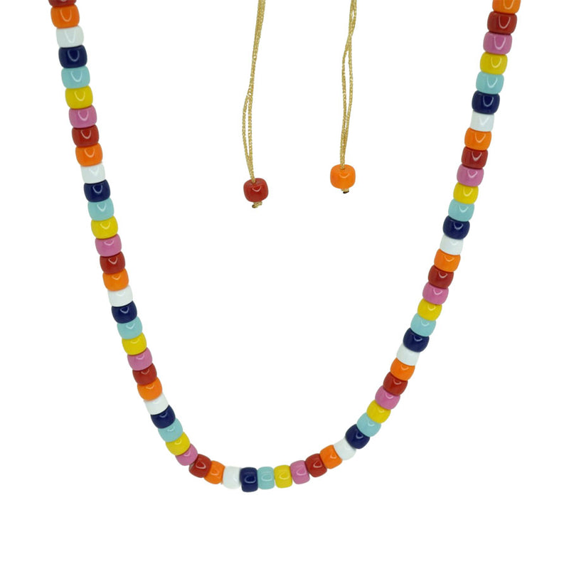 Multicolor Beads Choker