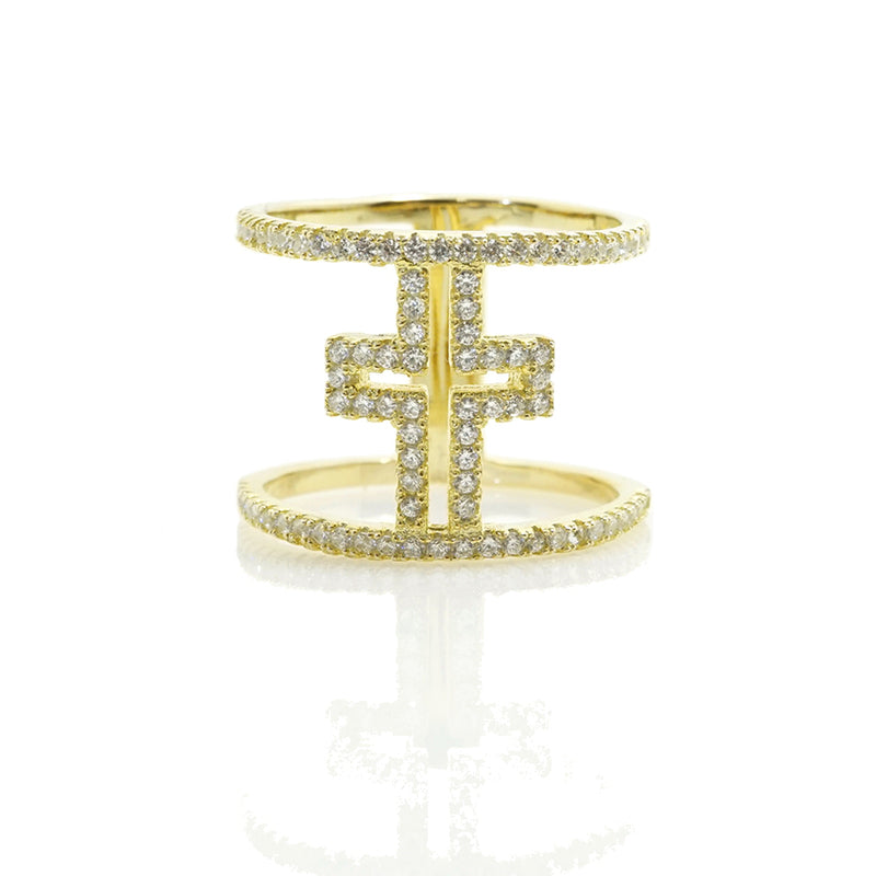 CZ Open Cross Ring