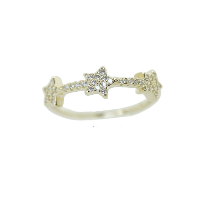 Triple Star CZ RIng