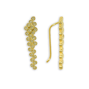 Ear Pin CZ Circles