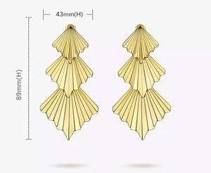 Triple Fan Earrings