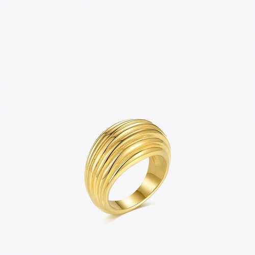 Thick Line Gold Ring