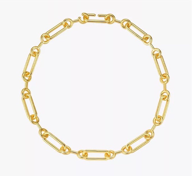 Oval Thick Link Necklace