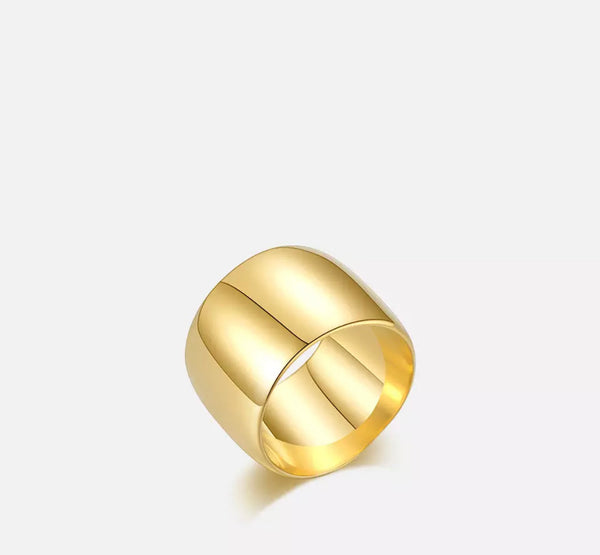 Thick gold Ring