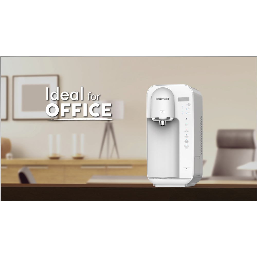 Table Top Hot, Room & Cold Water Purifier, White Ideal In For Office