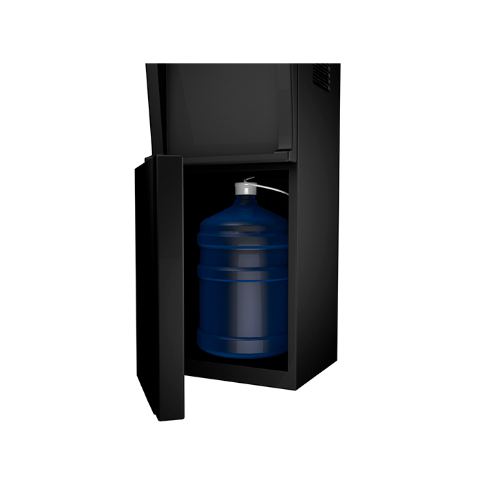 Bottom Loading Hot, Room & Cold, Black Storage Cabinet