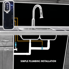 Table Top Room & Cold Water Purifier, Simple Plumbing installation