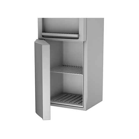 Top Loading Hot & Cold Water Dispenser, Silver with Storage Cabinet
