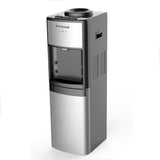 Top Loading Hot, Room & Cold Water Commercial Grade Water Dispenser with Cabinet and 3 Tray Positions, Stainless Steel