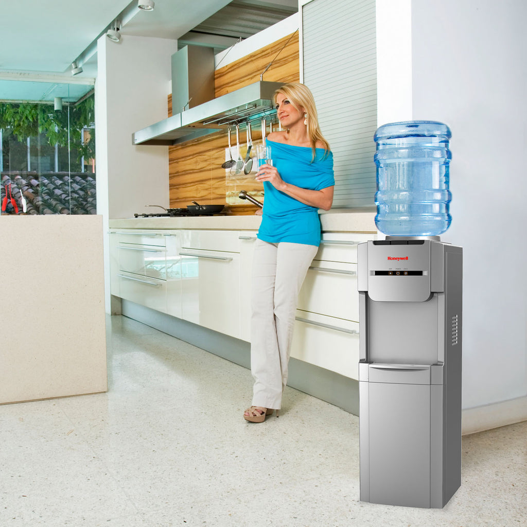 Top Loading Hot, Room & Cold Water Dispenser, Silver