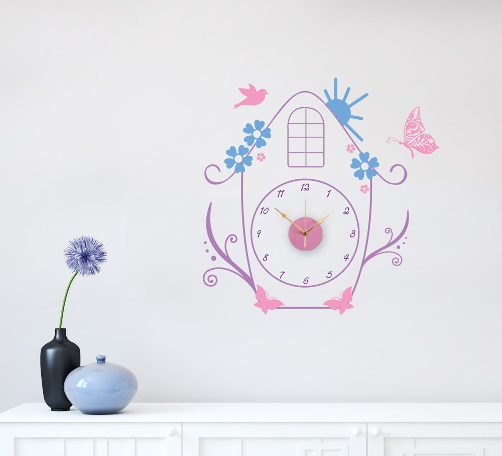 Birdhouse Wall Clock Sticker